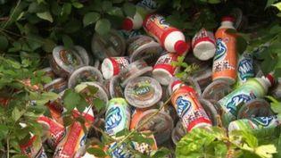 Des produits périmés retrouvés dans la forêt de Mormal. (France 2)
