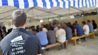 Rassemblement des Jeunes agriculteurs à Sulniac (Morbihan), le 10août 2016. (LOIC VENANCE / AFP)