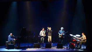 Ray Lema, Irving Acao, Sylvain Gontard, Gilles Coquard & Nicolas Viccaro au Festival Jazz Altitude (Briançon - Jan.2014)  (Gil Deluermoz)