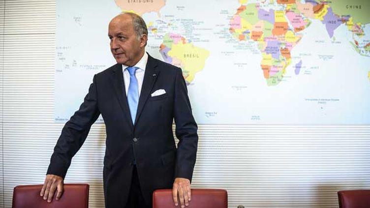 (Laurent Fabius veut privilégier les réfugiés qui ont un lien avec la France © Maxppp)