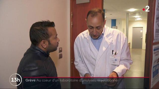 Grève : au coeur d'un laboratoire d'analyses médicales réquisitionné