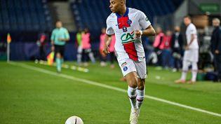 Kylian Mbappé, face à Montpellier, le 12 mai 2021. (PASCAL GUYOT / AFP)