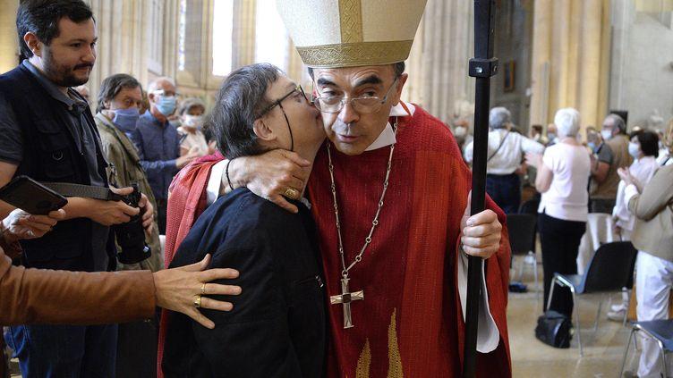 Le cardinal Barbarin a célébré sa dernière messe à Lyon, dimanche 28 juin 2020. (RICHARD MOUILLAUD / MAXPPP)