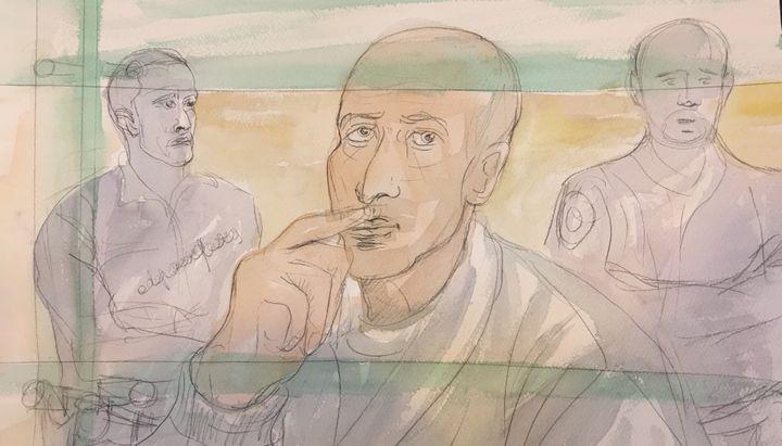 Malek Khider devant la cour d'assises de Paris le 2 mars 2016. (ELISABETH DE POURQUERY / FRANCETV INFO)