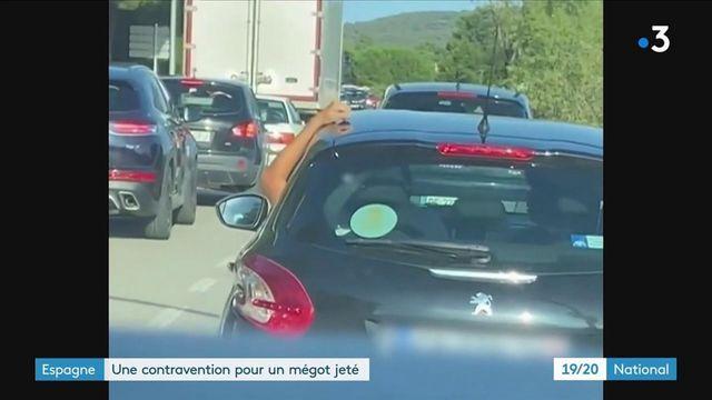 Espagne : 200 euros d'amende pour avoir jeté son mégot par la fenêtre d'une voiture