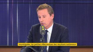 """Nicolas Dupont-Aignan était l'invité du """"8h30 de franceinfo"""" le vendredi 17 janvier 2020. (FRANCEINFO / RADIOFRANCE)"""