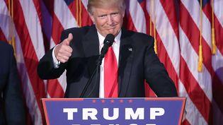 Donald Trump lors de son discours de victoire à l'élection présidentielle le 9 novembre à New York (MARK WILSON / GETTY IMAGES NORTH AMERICA)