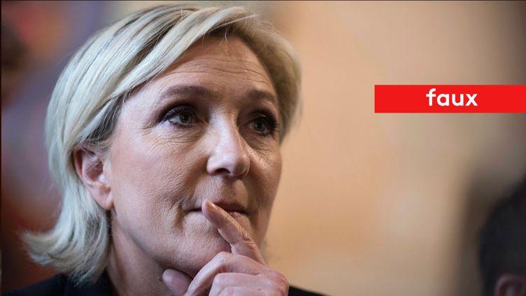 Marine Le Pen affirme que les condamnés à moins de cinq ans ne peuvent pas être incarcérés (MAXPPP)