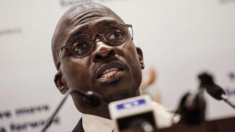 Le ministre des Finances sud-africain, Malusi Gigaba, dresse un sombre tableau de la situation de la premiière économie du continent. (GIANLUIGI GUERCIA / AFP)