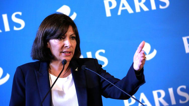 La maire de Paris, Anne Hidalgo, lors d'une conférence de presse, le 7 novembre 2014. (MAXPPP)