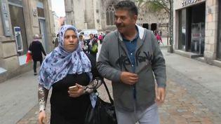 Un couple de réfugiés syriens. (FRANCE 3)
