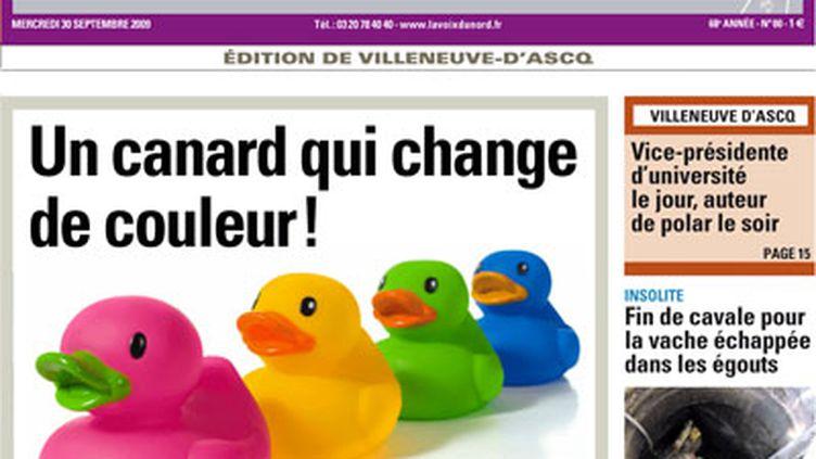 Une du site de La voix du Nord le 30 septembre 2009 (© lavoixdunord.fr)