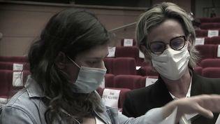 Mélanie Boulanger, la maire socialiste de Canteleu (Seine-Maritime) est dans la tourmente. Cette élue a été interpellée et placée en garde à vue dans le cadre d'une enquête pour trafic de stupéfiants et association de malfaiteurs, vendredi 8 octobre. (CAPTURE ECRAN FRANCE 2)
