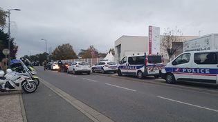 Le campus de l'école de commerce IGS, à Blagnac, en Haute-Garonne le 10 novembre 2017. (TWITTER / FRANCE BLEU TOULOUSE)