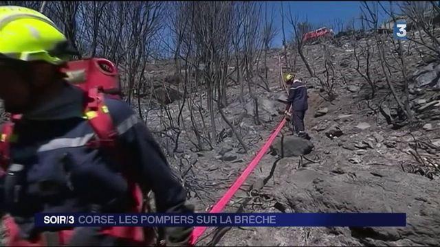 Corse : les pompiers sur la brèche