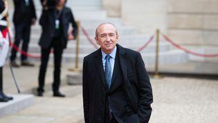 Gérard Collomb dans la cour de l'Elysée, le 14 mai 2017. (CITIZENSIDE / QUENTIN VEUILLET / AFP)