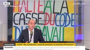 Laurent Berger numéro un de la CFDT invité de franceinfo (RADIO FRANCE / FRANCEINFO)