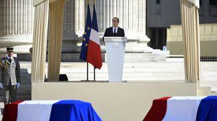François Hollande le 27 mai 2015, au Panthéon, à Paris. (MARTIN BUREAU / AFP)