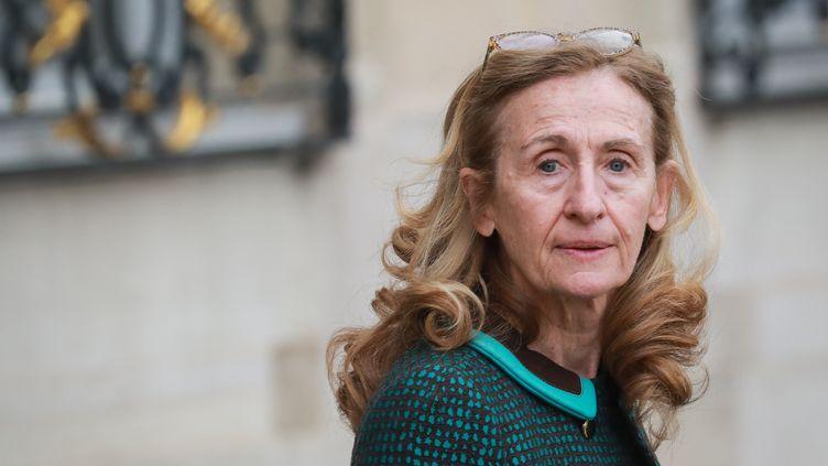 La ministre de la Justice Nicole Belloubet à l'Élysée à Paris, le 4 mars 2020. (LUDOVIC MARIN / AFP)