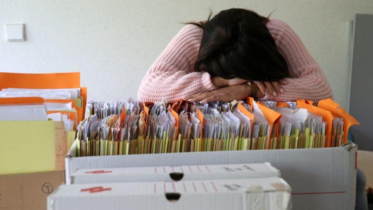 """L'OMS décrit le burn-out comme """"un syndrome (...) résultant d'un stress chronique au travail"""". (MAXPPP)"""
