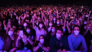 Un concert test avait déjà été organisé à Barcelone en Espagne en mars 2021. (LLUIS GENE / AFP)