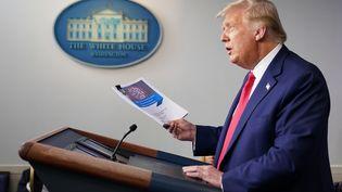 Le président américain Donald Trump, le 16 septembre 2020 à la Maison Blanche. (MANDEL NGAN / AFP)
