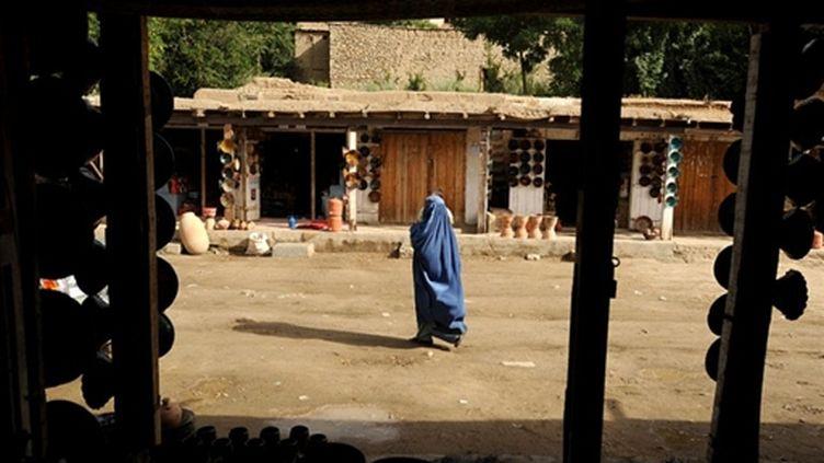 Dans un village afghan (Istalif, à 30 km au nord de Kaboul), le 8 juillet 2009 (© AFP PHOTO/SHAH Marai)