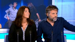 Cristiana Reali et Stéphane Guillonsur le plateau de France 3 Ile-de-France.  (France 3)
