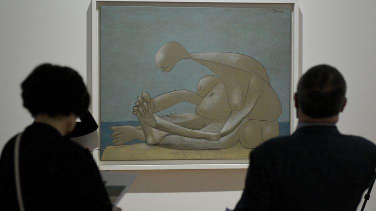 """Exposition """"Picasso: Baigneuses et baigneurs"""" au musée des Beaux-Arts de Lyon, le 23 juin 2020. (MAXIME JEGAT / MAXPPP)"""