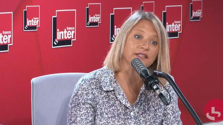 Karine Lacombe, chef de service maladies infectieuses à l'hôpital Saint-Antoine (Paris), sur France Inter le 24 août 2020. (FRANCE INTER / RADIO FRANCE)