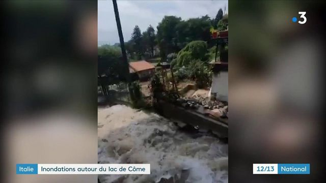Italie : impressionnantes inondations près du lac de Côme