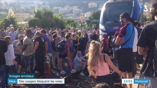 Nice : des usagers bloquent les voies