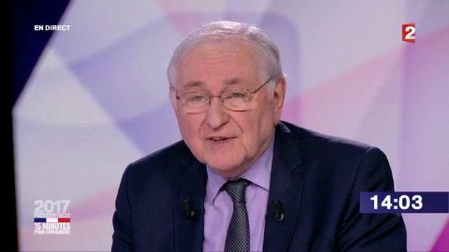 """Présidentielle : revivez le passage de Jacques Cheminade dans """"15 minutes pour convaincre"""" sur France 2"""