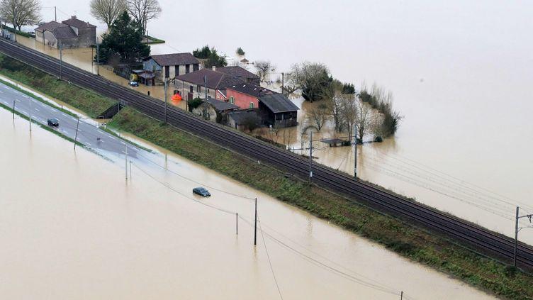 La Garonne est sortie de sont lit, le 4 février. Photo d'illustration. (LAURENT THEILLET / MAXPPP)