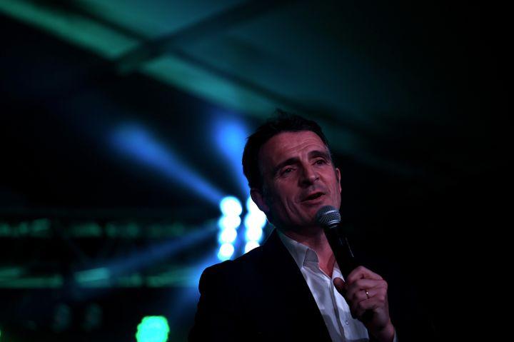 Eric Piolle lors d'un meeting à Grenoble (Isère), le 11 mars 2020. (JEFF PACHOUD / AFP)