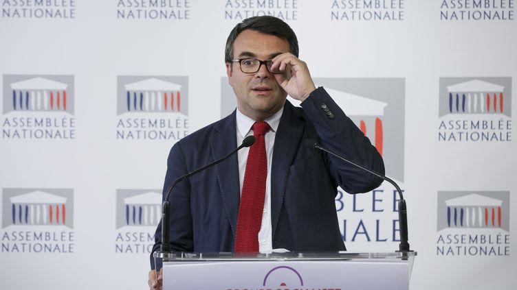 Le député PS Thomas Thévenoud lors d'un point presse du groupe socialiste à l'Assemblée nationale, le 8 juillet 2014, à Paris. (  MAXPPP)