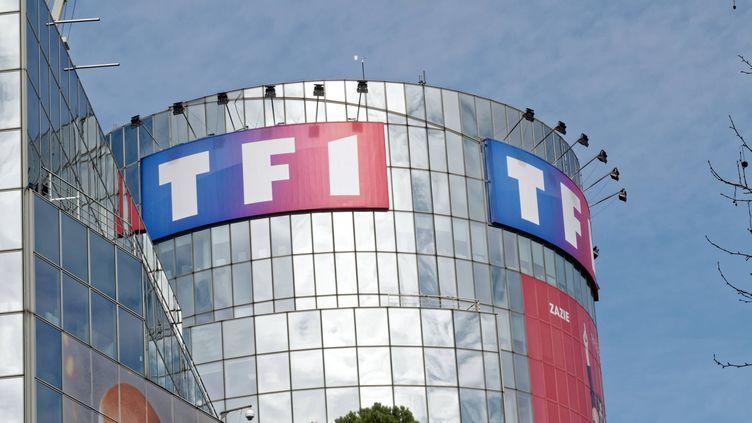Le siège de TF1 à Boulogne-Billancourt, en 2018. (DANIEL FOURAY / MAXPPP)