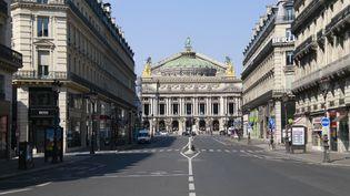 L'Opéra Garnier, le 8 avril 2020, à Paris. (QUENTIN DE GROEVE / HANS LUCAS / AFP)