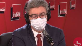 Jean-Luc Mélenchon sur France Inter le 26 octobre 2020.  (FRANCE INTER)