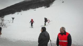 L'hélicoptère venait d'effectuer une mission de secours sur les pistes de ski dans le centre du pays avant de s'écraser, mardi 24 janvier 2017. (STR / NURPHOTO)