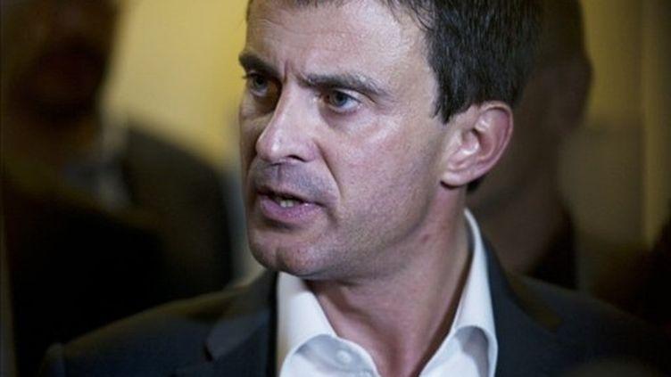 Manuel Valls, député-maire d'Evry et candidat à la primaire PS (FRED DUFOUR / AFP)