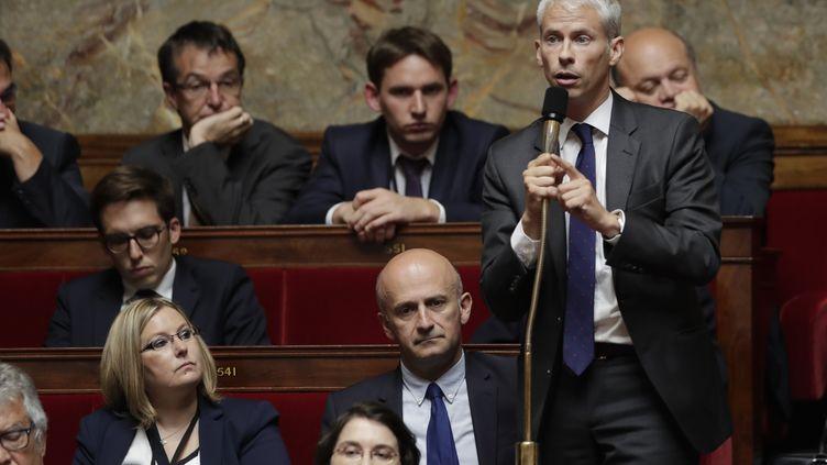 """Le député """"constructif"""" Franck Riester, le 28 juin 2017 à l'Assemblée nationale. (THOMAS SAMSON / AFP)"""
