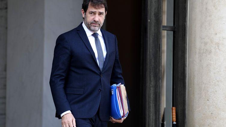 Le ministre de l'Intérieur, Christophe Castaner, le 13 mai 2020 au palais de l'Elysée, à Paris. (JULIEN DE ROSA / AFP)