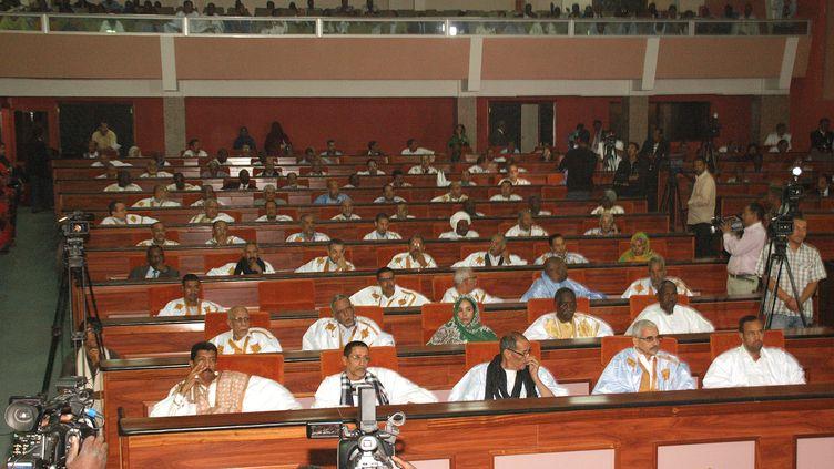 Des parlementaires mauritaniens à la session inaugurale de l'Assemblée nationale, le 29 janvier 2014 à Nouakchott. (MOHAMED OULD ELHADJ / AFP)