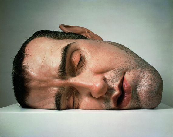 """Un autoportrait de l'artiste, """"Mask II"""", 2001. Matériaux divers. Anthony d'Offay, Londres. (RON MUECK / PHOTO COURTESY ANTHONY D'OFFAY, LONDRES)"""