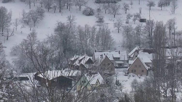 De la neige en Alsace, samedi 16 janvier.    (CAPTURE ECRAN FRANCE 2)