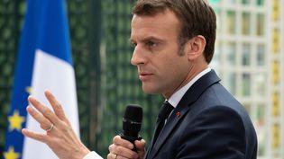 Emmanuel Macron, le 1er mars 2019, à Bordeaux. (CAROLINE BLUMBERG / AFP)