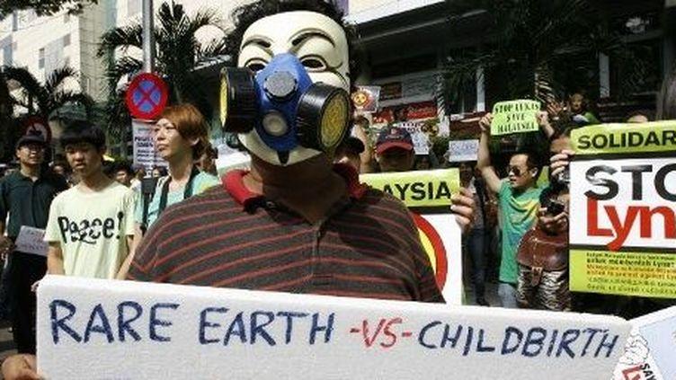 """Malaisie: manifestation en 2012 contre l'exploitation de """"terres rares"""" (AFP/EyePress News)"""
