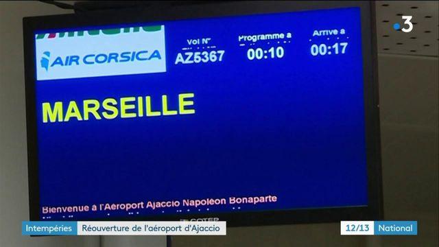 Intempérie : réouverture de l'aéroport d'Ajaccio