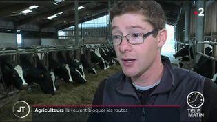 Hubert Basse, agriculteur. (France 2)